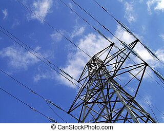 Electricity Pylon Tower - electricity pylon tower with...