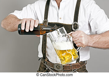 Bavarian tradition - An image of a traditional bavarian man...