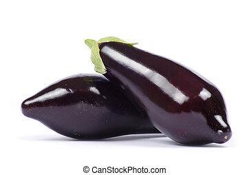 aubergine isolated on white background