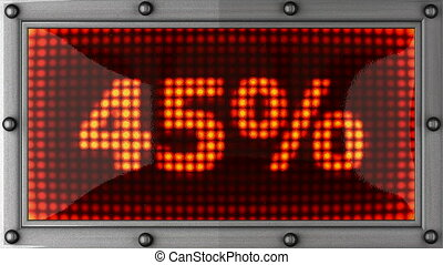 percentage - announcement on the LED display