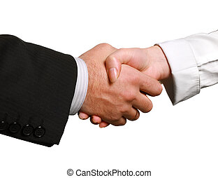 Business handshake - Perfect business handshake, isolated on...