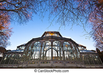 Palacio de Cristal in Retiro city park, Madrid