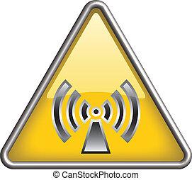Non ionizing radiation icon, symbol - Non ionizing radiation...