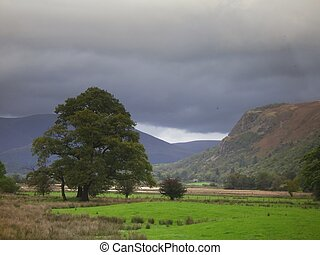Borrowdale - View of the Borrowdale Valley in the English...