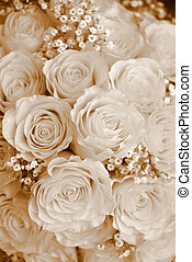 Bridal Bouquet background  - background bouquet sepia tone