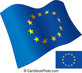 EU Flag - European Union Flag. Vector Illustration