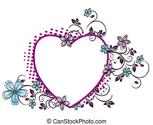 floral pattern in the form of heart