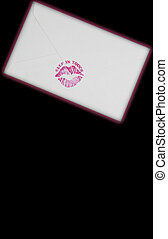 Keeping in Touch  - A Valentine letter sealed with a kiss.
