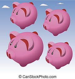 flying pigs in the sky