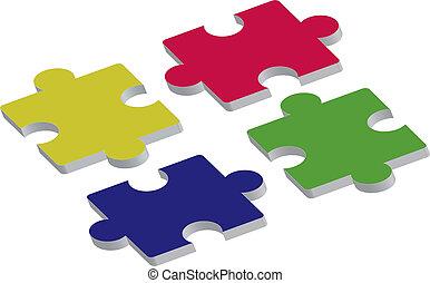 puzzle assembly pieces 3d