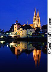 Regensburg, Germany - Old Town of Regensburg in the...
