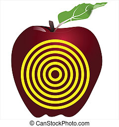 alias of target on red apple