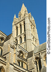 Truro Cathedral tower, Cornwall UK