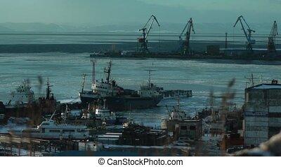 Port Korsakov  Sakhalin island sunshade