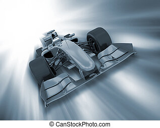 Formula one car - 3D render of a formula one car on a motion...