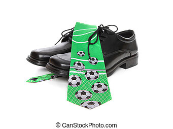 Soccer (Football) Tie and Shoes