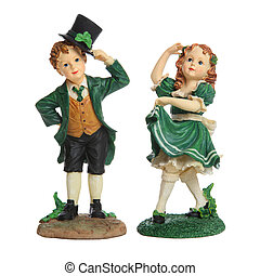 Saint Patricks Day Couple - A Saint Patricks Day man and...