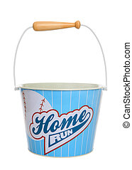 Baseball Busket Pail - A baseball sport themed pail bucket...
