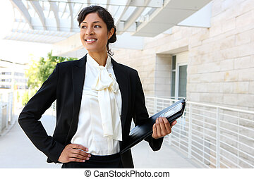 African American Business Woman - A happy african american...