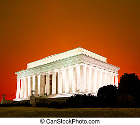 el, Lincoln, monumento conmemorativo, Washington, CC
