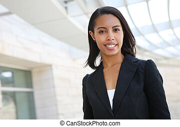 Pretty African American Business Woman - A pretty african...