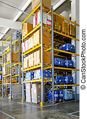 Chemical material storehouse - Storehouse with chemical...