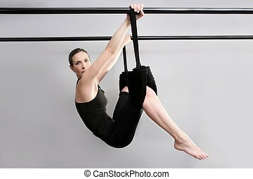 cadillac pilates sport woman gym instructor fitness exercise