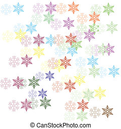 snow flakes scatter