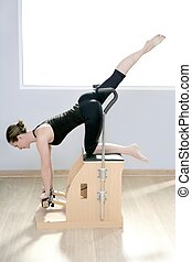 combo wunda pilates chair woman fitness yoga gym exercise