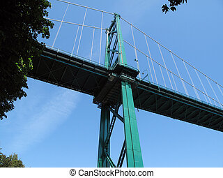 Lion Gate Bridge Vancouver - Lion gate bridge Vancouver with...