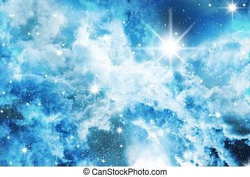 Stars sky - Nebula detail taken through telescope. Stars sky...