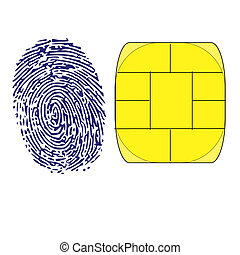 thumbprint and memory chip