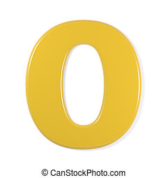 yellow font - number 0