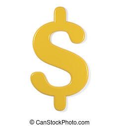 yellow font - dollar sign