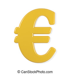 yellow font - euro sign