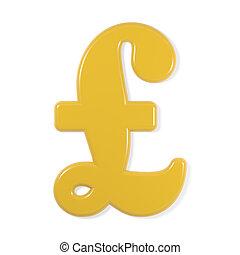 yellow font - pound sign