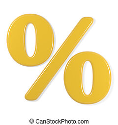 yellow font - percentage symbol - Yellow percentage symbol,...