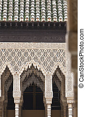 Archway - Amazing detail in Alhambra, Spain