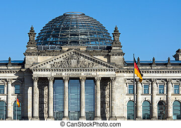 The German Reichstag in Berlin