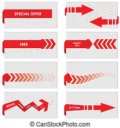 red paper tag - Vector sale announcement