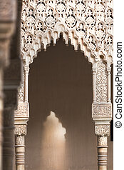Light and shadow - Amazing detail in Alhambra, Spain....