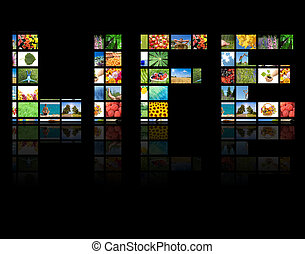 TV panels. Television production technology concept