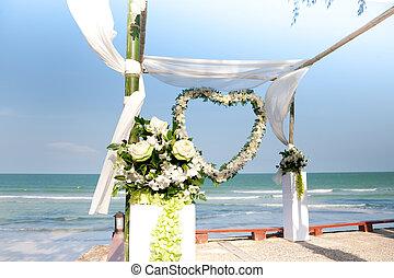 Weddind Arch - Weddind bamboo arch near the beachfront