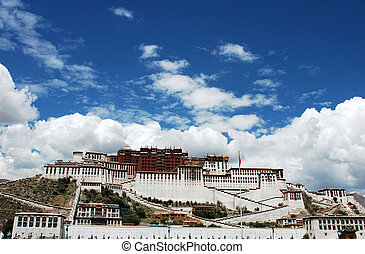 Potala Palace in Lhasa Tibet - Famous historic building of...