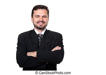 Portrait of a confident mature Caucasian business man with...