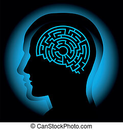 Brain maze - Abstract image symbolizing the human brain as a...