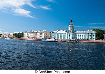 Saint-Petersburg - university embankment in...
