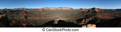 Middle Mesa panorama - Scenic panorama of the Sedona area...