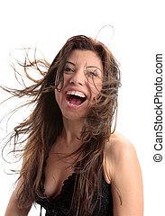 Happiness Beauty Vitality Fun - Beautiful woman full of...