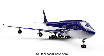 boeing 747 - boing isolated on white background